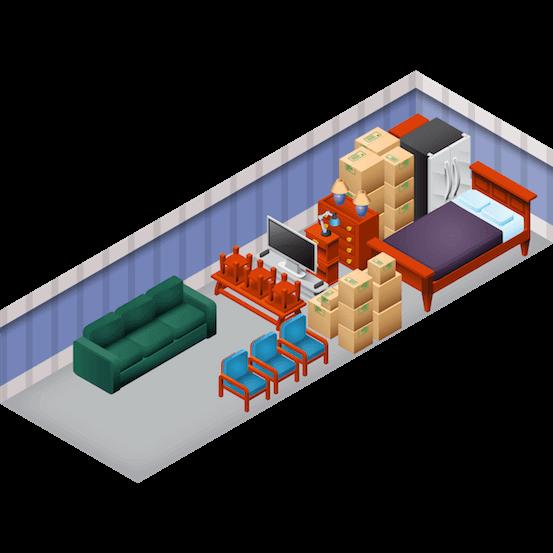 Площадь склада для хранения 50 кв.м.