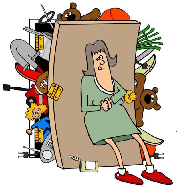 Хранение вещей у бабушки